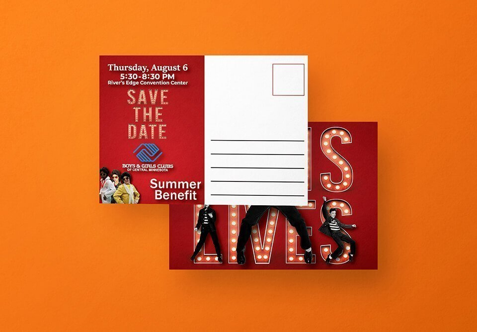 Boys and Girls Club Post Card Design Portfolio