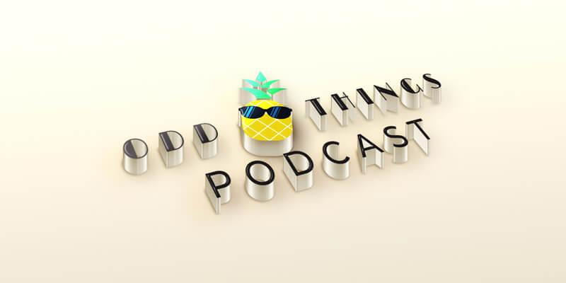 Odd Things Podcast Logo Mockup Horizontal