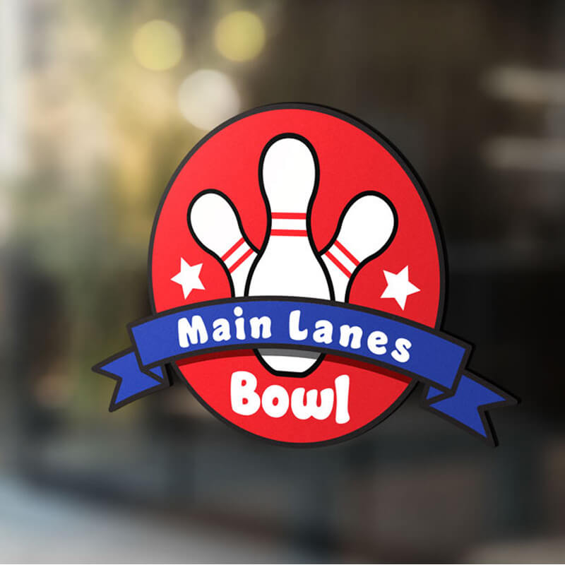 Logo Design For Main Lanes Bowling Alley